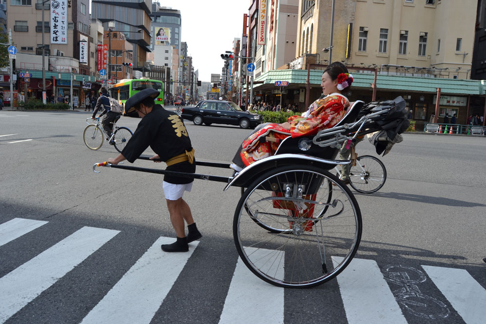 Рикша за туристи в Асакуса