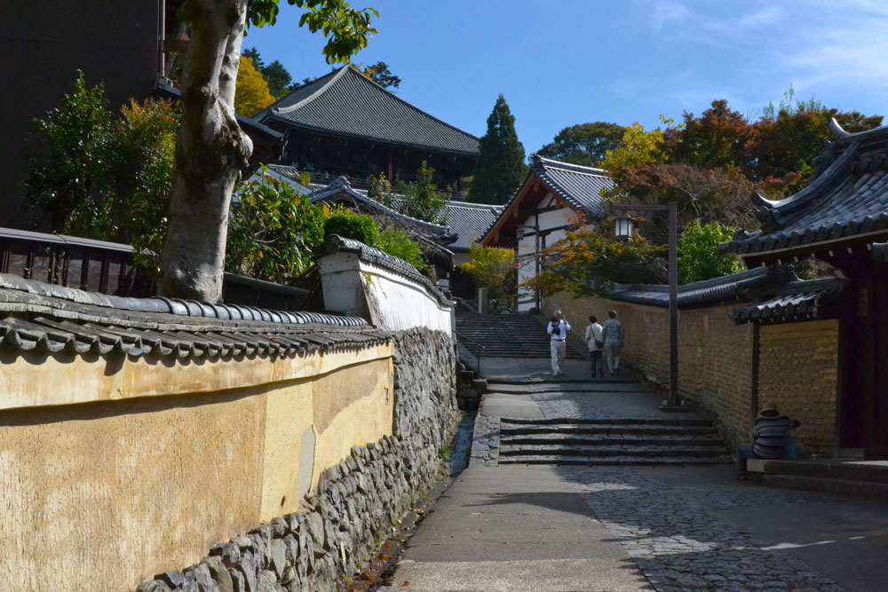 Живописна уличка водеща към храма Нигацудо