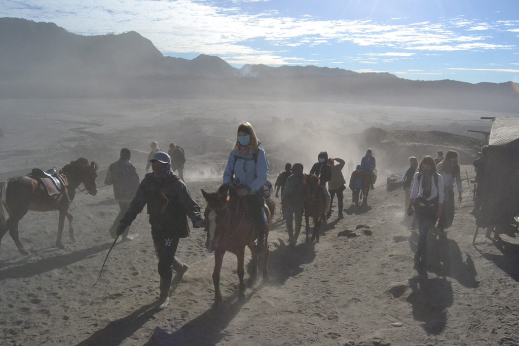 The way to Bromo