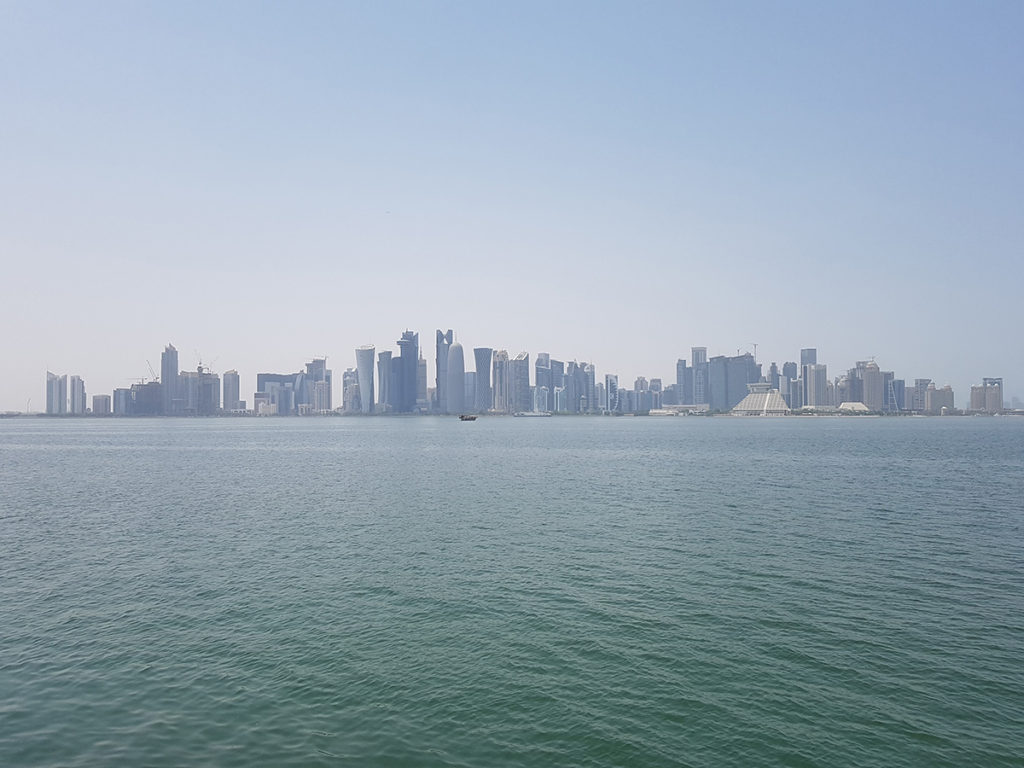 View to West Bay from Doha Corniche