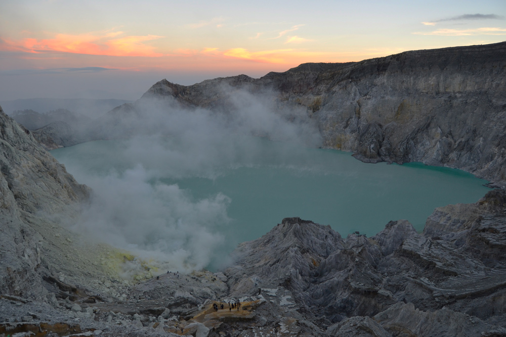 Ijen Crater and the Blue Flame