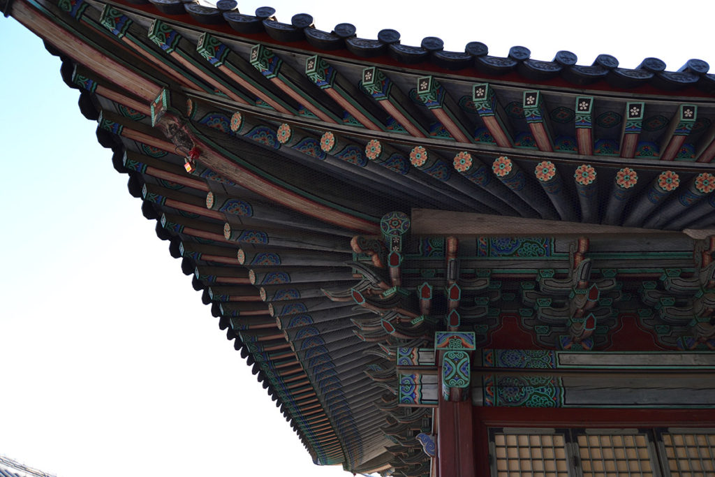 Traditional Korean roof
