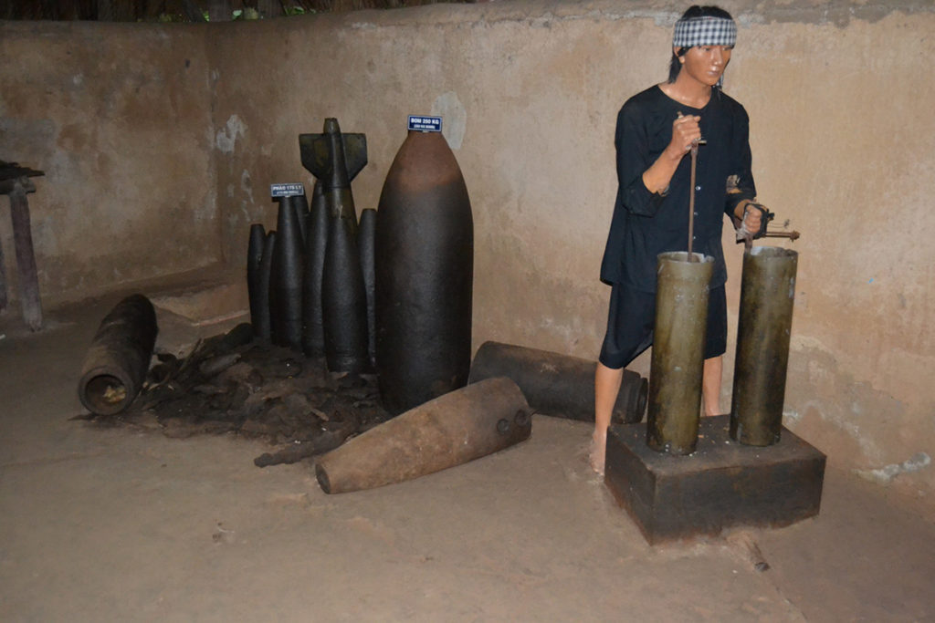 Enemy bombs in Cu Chi Tunnels