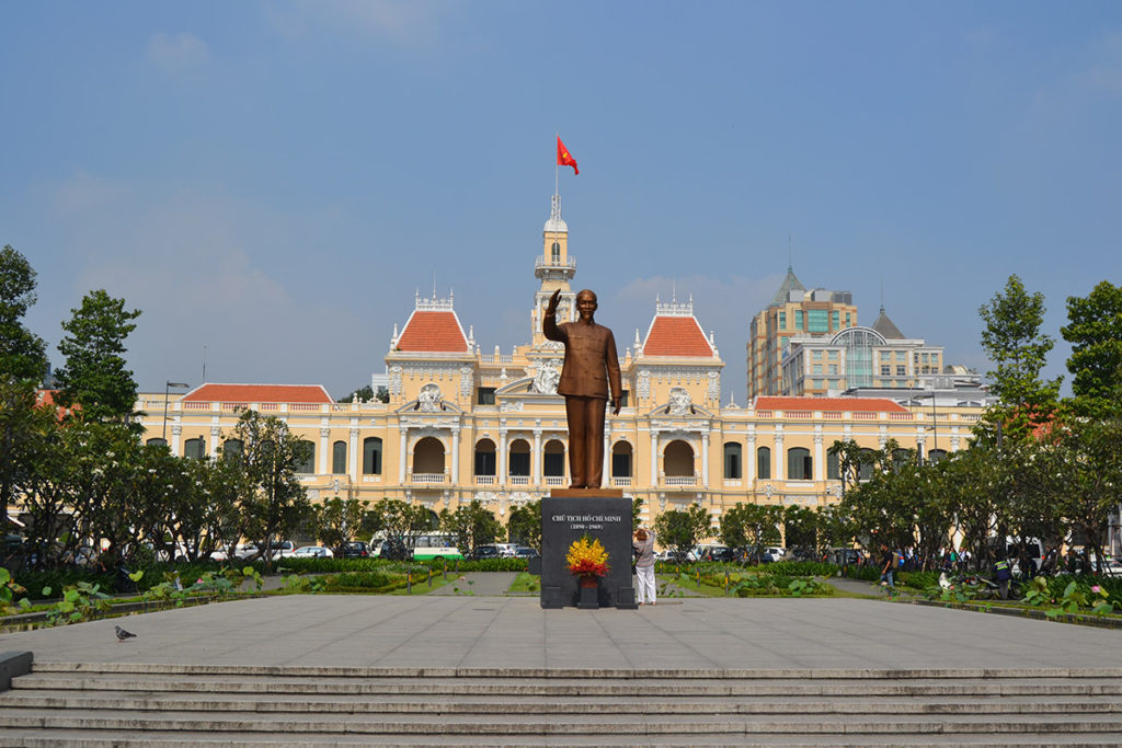 Ho Chi Minh statue in front of City Hall, Ho Chi Minh City