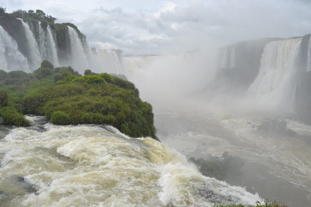 Devil's Throat Boardwalk Iguazu Falls Brazil