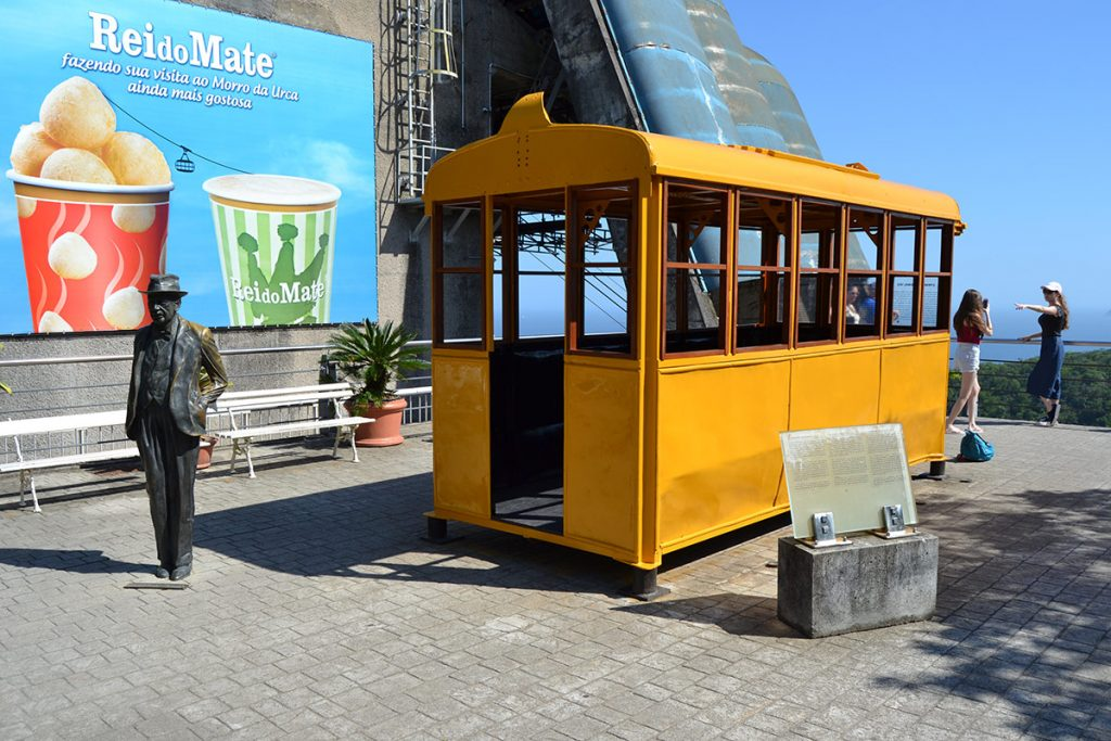 The original wooden cable car