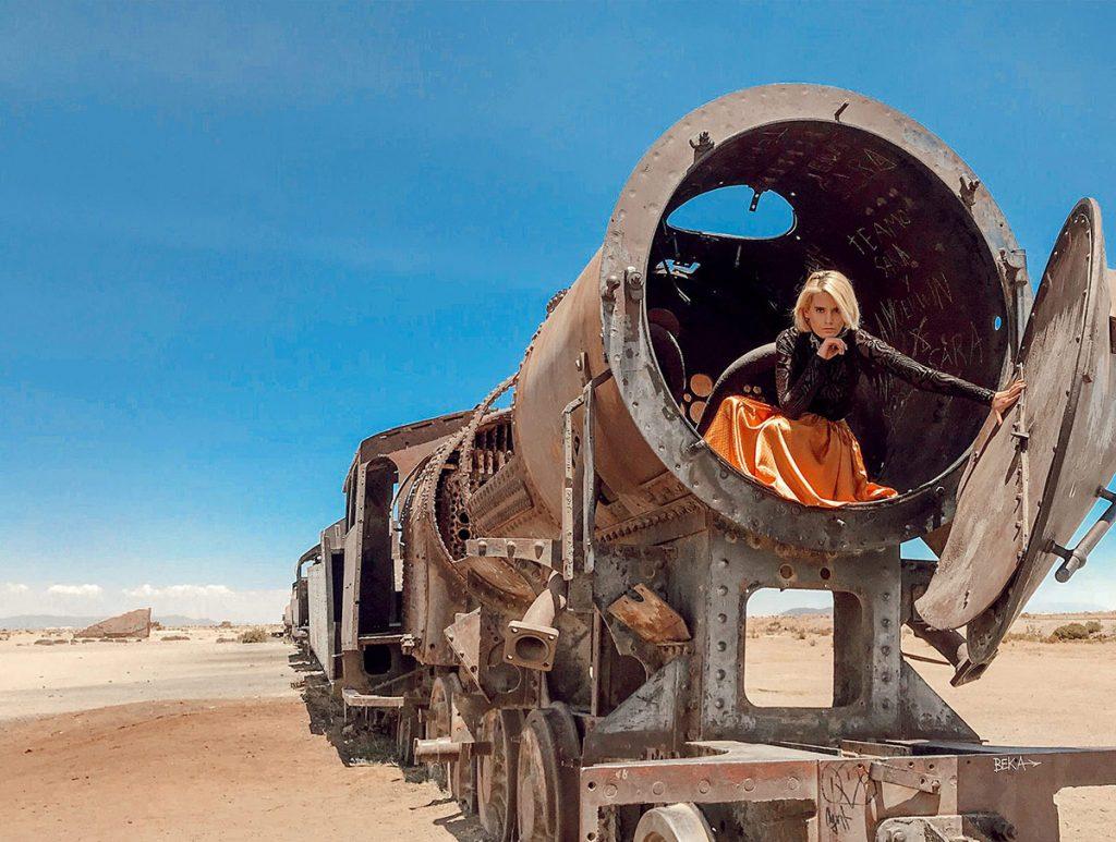 Гробището за влакове в Боливия