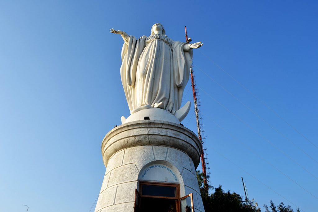 The statue of the Virgin Mary on San Cristobal Hill