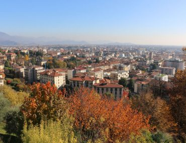 Lower City view from Upper City in Bergamo