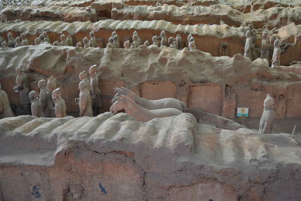 The Terracotta Army in Xian, China