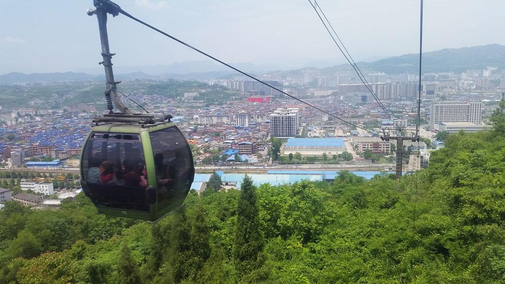 Гледка към град Жанджайе